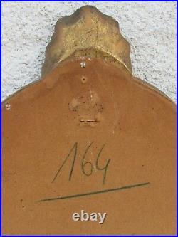 06e24 Ancien Miroir Style Bois Sculpte Et Stucs Dores Décors Coquille Louis XV /