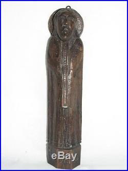 08E19 ART POPULAIRE ANCIENNE STATUE RELIGIEUSE BOIS SCULPTE SAINT ADRIEN XVIIIe