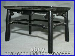 10,4vieux bois noir ébène chinois sculpté dynastie Table bureau meubles anciens