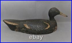 2913 leurre de chasse canard en bois sculpté ancien