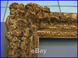 2914 grand encadrement tableaux bois stuc sculpté qualité 70 cm x 60 cm ancien