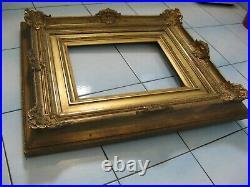 3007 encadrement tableaux bois stuc sculpté qualité 33 cm x 25 cm 19eme ancien