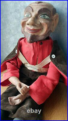 50 cm EXCEPTIONELLE Marionnette tres ancienne en bois sculptee articulee