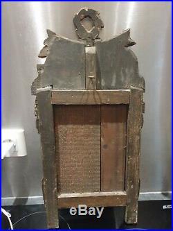 ANCIEN MIROIR DE COURTOISIE, XVIIIeme, LOUIS XVI, BOIS SCULPTE, DORURE, MIRROR, DORE