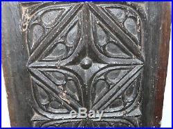 ANCIEN PANNEAU DE BOIS CHENE SCULPTE GOTHIQUE XVe-XVIe HAUTE EPOQUE COLLECTION