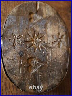 ANCIEN PETIT COFFRET DE MARIAGE XIX EME Siècles SCULPTE ART POPULAIRE