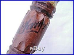 ART POPULAIRE ANCIENNE CANNE EN BOIS SCULPTE, signée, bouc, diable, unique