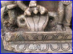 Ancien Bas-relief en Bois sculpté INDE