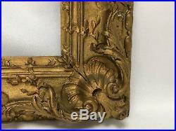 Ancien Cadre En Bois Sculpté 17 Eme Rehausse De Dorure Louis XIV C1453