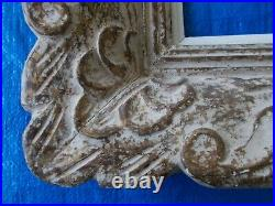 Ancien Cadre Montparnasse, Bois Sculpte Ton Creme, Dimensions Ext. 44,5 X 40 CM