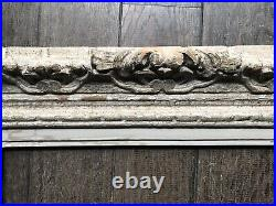 Ancien Cadre Montparnasse Format 8p Début 20e Bois Sculpté Peinture Tableau