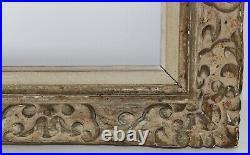 Ancien Cadre Montparnasse Pour Tableau Peinture Bois Sculpte 70/136 51/100 CM #1