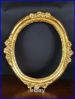 Ancien Cadre Ovale bois sculpté & doré XIX° siècle 49x43 & 39x32cm