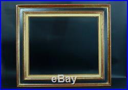 Ancien Cadre à Cassetta Tableau bois sculpté doré Italien antique Frame Cornice