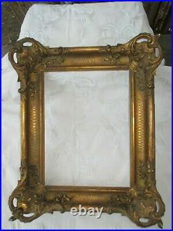 Ancien Cadre en Bois Doré Style Louis XV / XVI 18ième