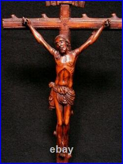 Ancien Christ Bois Sculpte Foret Noire Art Populaire Serpent XVIII E Schwarzwald