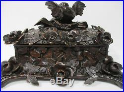 Ancien Coffret Boite Bois Sculpte Foret Noire Old Box Case Black Forest