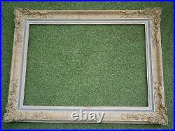 Ancien Grand Cadre En Bois Sculpte Dore Feuillure De 70,5 X 50,5 Frame Antique