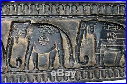 Ancien Panneau Sculpté Palanquin de Mariage Tribu Santal Inde