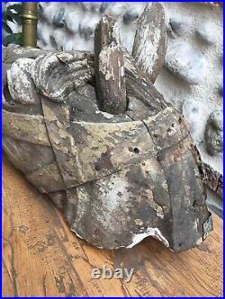Ancien Rare Tete De Cheval Bois Sculpté Carroussel Très Belle Patine XIX Bayol