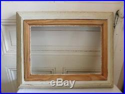 Ancien cadre Montparnasse bois sculpté patiné doré 40 x 50.9 cm
