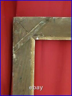 Ancien cadre Montparnasse en bois sculpté patiné