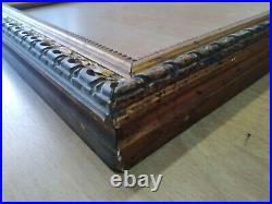 Ancien cadre art nouveau bois stuc doré feuillure 52 cm x 43 cm old frame miroir