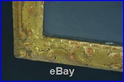 Ancien cadre baguette Bérain 18e dessin gravure bois doré antique frame Cornice