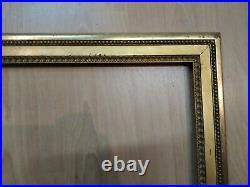 Ancien cadre baguette doré feuillure 50 cm x 43 cm frame gravure tableau miroir
