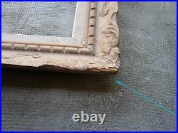 Ancien cadre bois sculpté Montparnasse Bouche dimensions feuillure 47 x 39 cm
