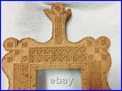 Ancien cadre sculpté en liège travail artisanal ART POPULAIRE début XXe FRANCE