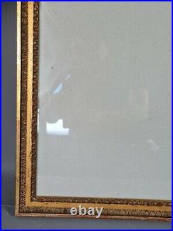 Ancien cadre style Louis XVI bois sculpté doré 71,5x51,5 feuillure 66,7x47,7 cm