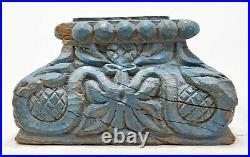Ancien en Bois Colonne Base Original Ancien Fin Main Sculpté Bougie