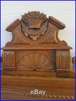 Ancien et grand imposant MIROIR 19éme NAPOLÉON III en BOIS Doré Sculpté et Stuc