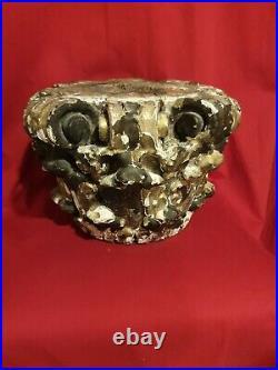 Ancien grand chapiteau en bois sculpté doré époque XVIII ème s