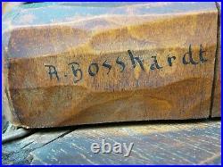 Ancien lustre en bois sculpté forêt noire de A. Bosshardt