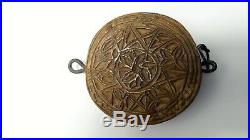 Ancien marque à pain moule a biscuit bois sculpté Art populaire Savoie Queyras