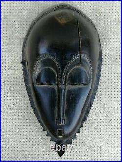 Ancien masque baoule bois sculpté mask carved wood