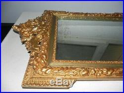 Ancien miroir bois doré sculpté du XIX eme style louis XV