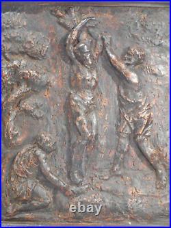 Ancien panneau bois sculpté -Christ aux liens Haute époque XVIème Renaissance
