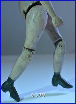 Ancien petit Mannequin de peintre articulé en bois sculpté patiné 19 ème