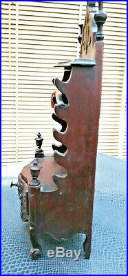 Ancien porte pipes style Louis XV en bois sculpté fin 19 ème début 20 ème