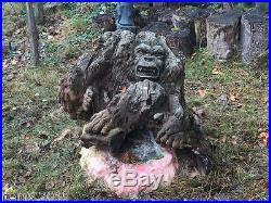 Ancienne Grande Sculpture En Bois Flotté, Ou Racine Sculptée Vers 1900