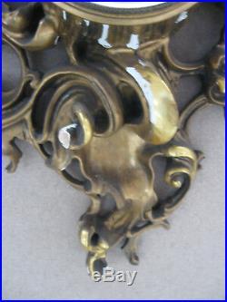 Ancienne Pendule De Style Louis XV En Bois Doré Sculpté