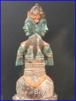 Ancienne Statuette en Bois sculpté, Shiva de BALI INDONÉSIE