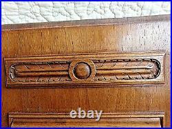 Ancienne paire panneau porte-fontaine florale-bois sculpté massif- carved wood