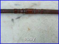 Ancienne pipe à opium en bois sculptée 39cm