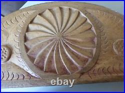 Ancienne planche à repasser les cols en bois sculpté Art populaire 4677 gr