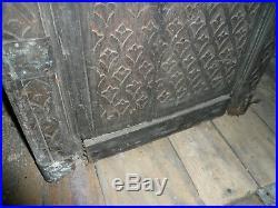 Ancienne porte monumentale judaique Marocaine bois sculpté