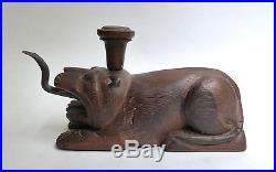 Ancienne rape à coco en bois sculpté ZOOMORPHE Thailande vers 1900